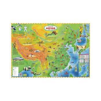儿童房专用挂图 中国知识地图