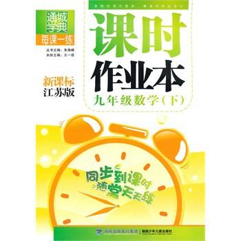 九年级数学课时作业本/附答案 朱海峰 9787539535845